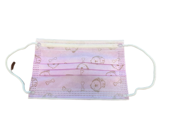 Kids 3-PLY Disposable Surgical Mask w/Elastic Ear Loop, Pink/Blue
