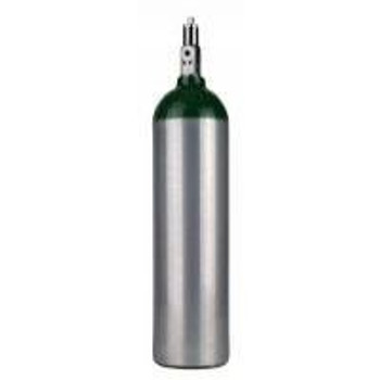 VE Ralph Aluminum D Size Oxygen Cylinder with Toggle Valve