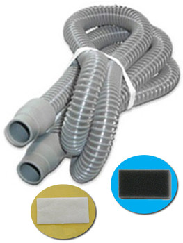 Replacement tubing and filter Kit for System One CPAP Machines