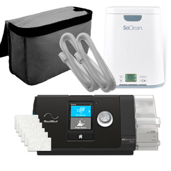 AirPack Auto - ResMed AirSense 10 Autoset Bundle Package w/ SoClean 2 CPAP Cleaner and Sanitizer