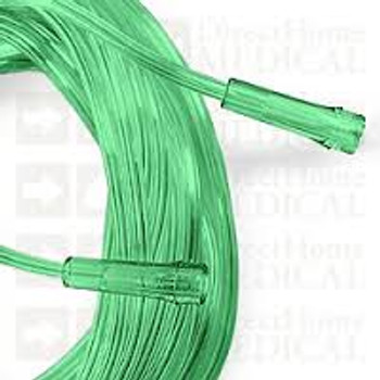 Green Oxygen Tubing With 2 Standard Connecters