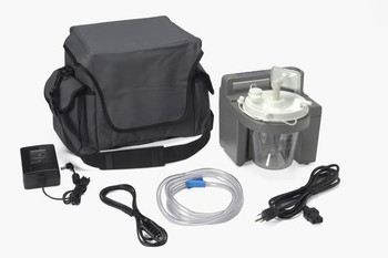 DeVilbiss Healthcare 7305 Series Homecare Suction Unit with Internal Filter, Battery, and Carrying Case