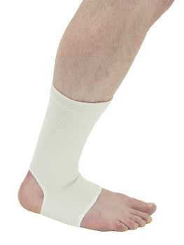 MAXAR Wool/Elastic Ankle Brace (Two-Way Stretch, 56% Wool) - White