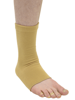 MAXAR Cotton/Elastic Ankle Brace (Four-Way Stretch, 67% Cotton) - Beige