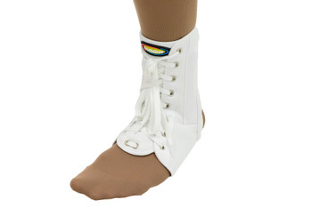 MAXAR Canvas Ankle Brace (with laces) - White
