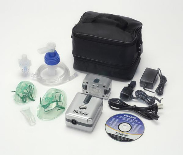 DeVilbiss Healthcare Traveler Portable Compressor Nebulizer System without Battery