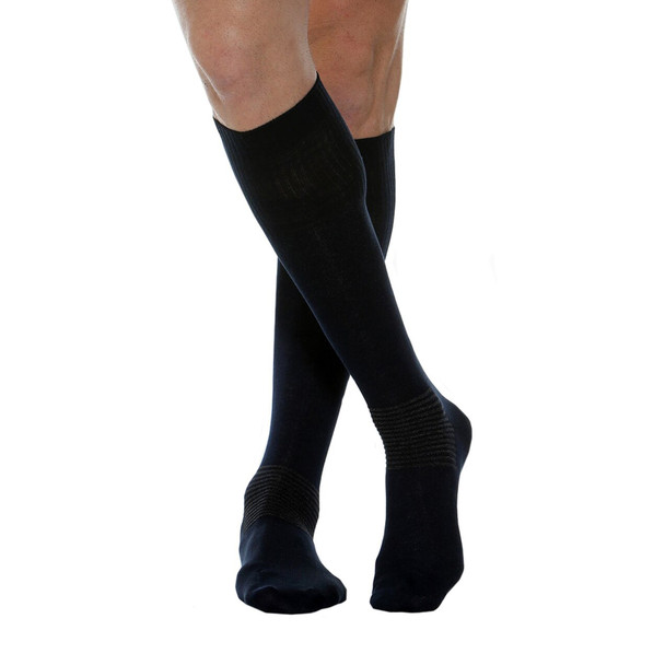 MAXAR Comfort/Diabetic (Unisex) Cotton/Silver Socks - Black