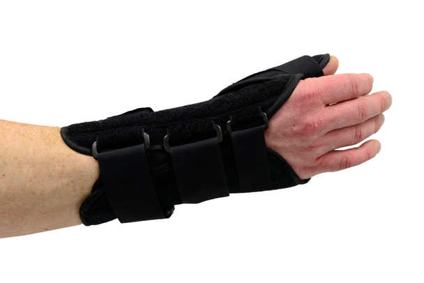 MAXAR Wrist Splint with Abducted Thumb - Right Hand - Black