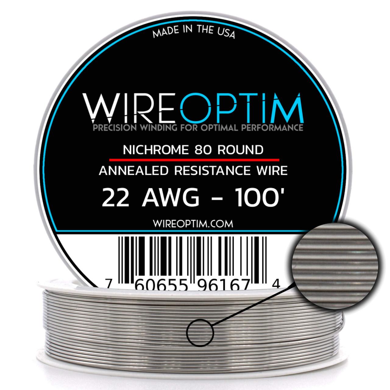 26ga Nichrome, 38ga Nichrome, 9 ft Heat Resistance Wire Spool Clapton Wire