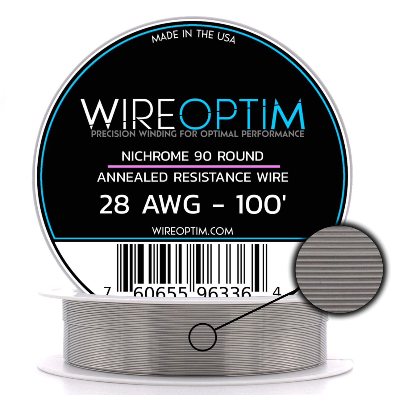 28 AWG Nichrome 90 Competition Wire 250/' N90 Wire 28g GA 0.32 mm 250 ft