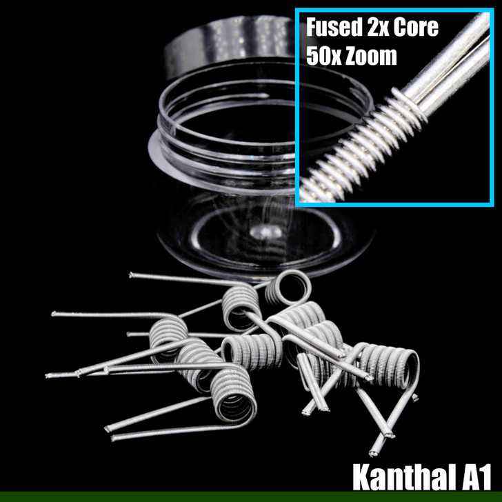 Clapton Wire Coils - Fused 2x Core KA1 / KA1 - 10 Pack