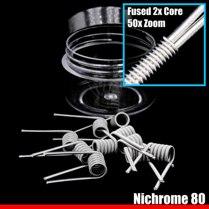 Clapton Wire Coils - Fused 2x Core N80 / N80 - 10 Pack