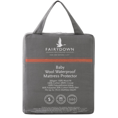 Baby Wool Waterproof Mattress Protector by Fairydown