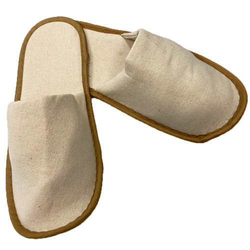 Closed Toe Natural Slippers One Size