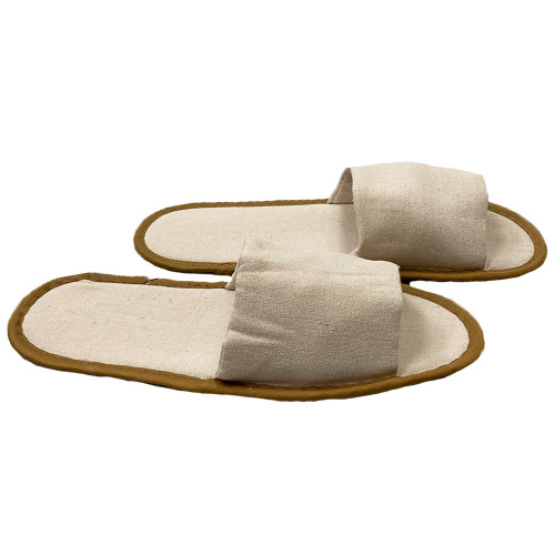 Open Toe Natural Slippers One Size