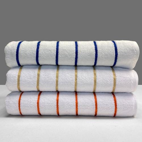 Commercial Jubilee Pin Stripe Pool Towel