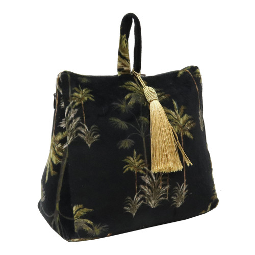 Black Velvet Palm Tree Doorstop by Le Forge