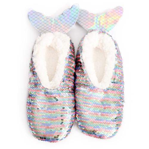 Kids Mermaid Sequins Slippers by Sploshies