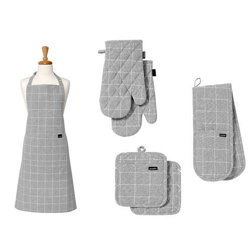 Eco Check Grey Kitchen Accessories by Ladelle