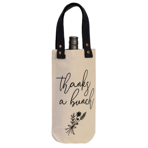 Thanks A Bunch Wine Carrier by Linens and More