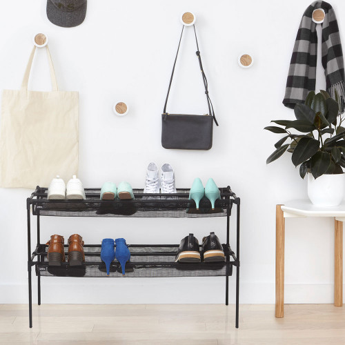 Sling 2 Tiered Shoe Rack by Umbra