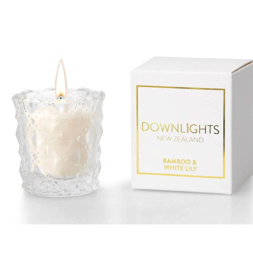 Bamboo and White Lily Mini Candle by Downlights