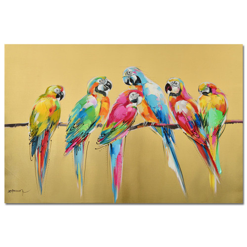 Birds Of A Feather Canvas Art by Linens and More