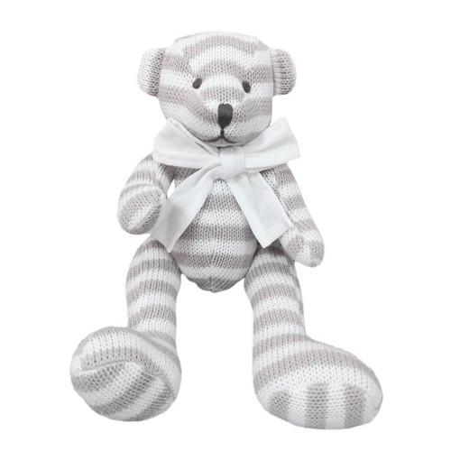 Grey Mr Bear Soft Toy by Baby Bow
