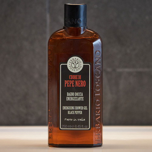 Pepe Nero Shower and Bath Foam (250ml) by Erbario Toscano