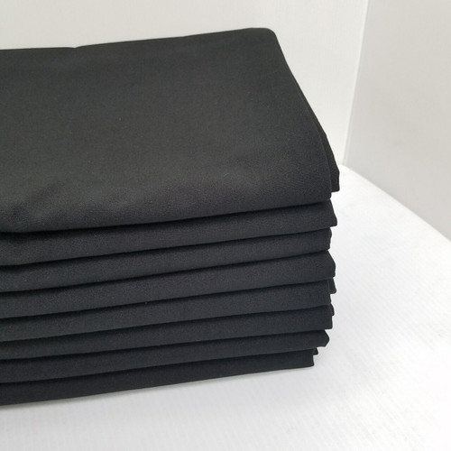 300cm Round Caress Black 100% Commercial Polyester Table Cloth