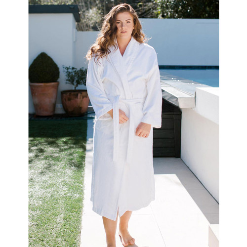 Unisex Hotel Velour Robe by Baksana
