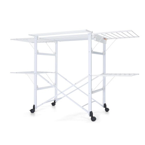 Gulliver Clothes Airer Aluminium/White by Foppapedretti