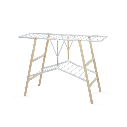 Ciak Clothes Airer Natural/Aluminium by Foppapedretti
