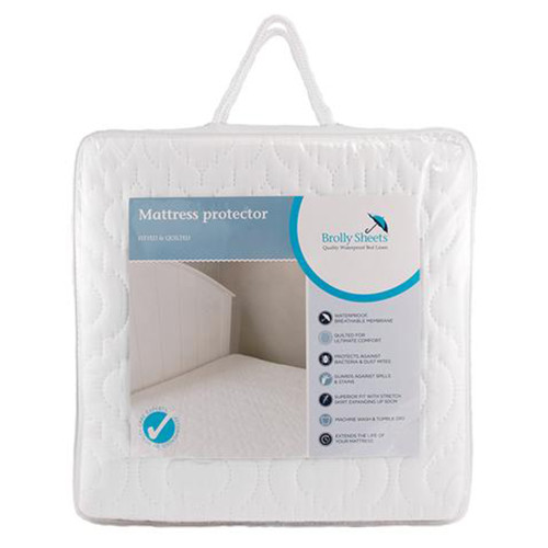 Waterproof Quilted Mattress Protectors by Brolly Sheets