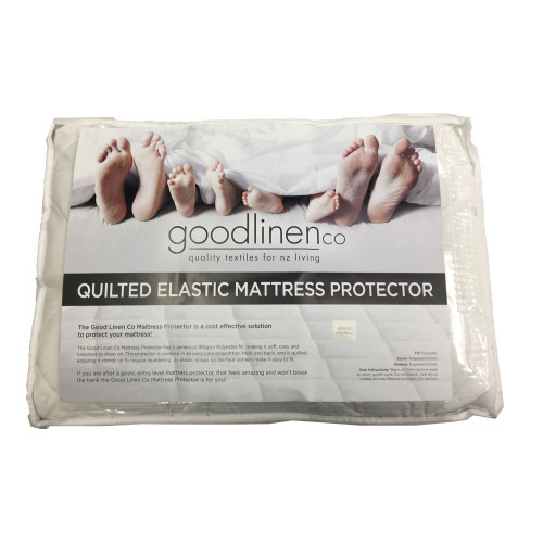 Quilted Elastic Mattress Protector by Good Linen Co(R)