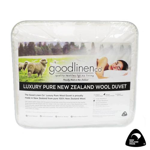 Luxury Pure New Zealand Wool Duvet Inner (Summer Weight) by Good Linen Co
