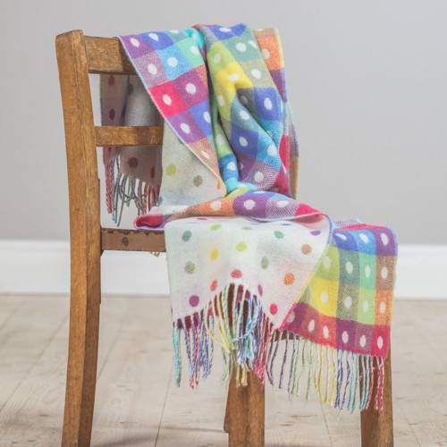 Baby Lambswool Spot Throws by Foxford