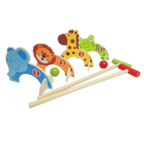 Wooden Animal Croquet Set by easy days