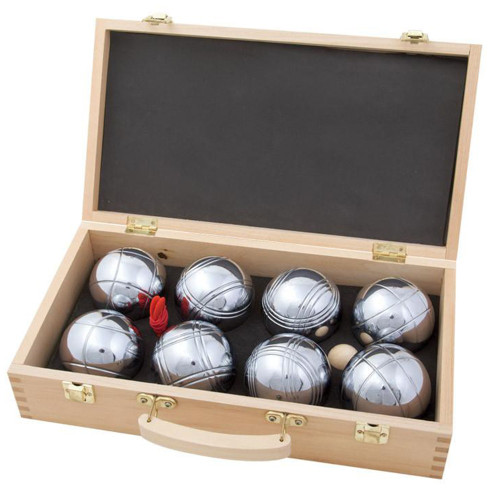 Petanque (Boules) In Your Court Set (Wooden Box) by easy days