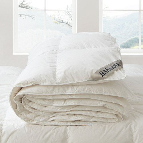 95/5 Summer Weight Hungarian Goose Down and Feather Duvet Inners by Baksana