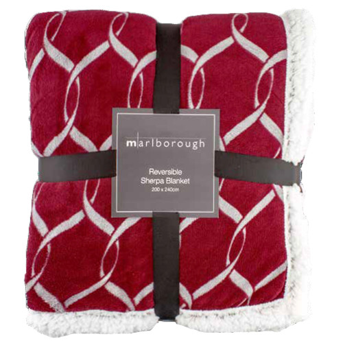 Langston Sherpa Blanket by Marlborough