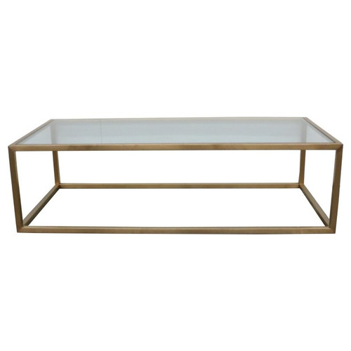 Bogart 140 x 70cm Bronze Stainless Steel Coffee Table by Le Forge
