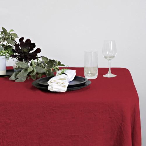 100% Linen Hemmed Table Runner by Linens and More