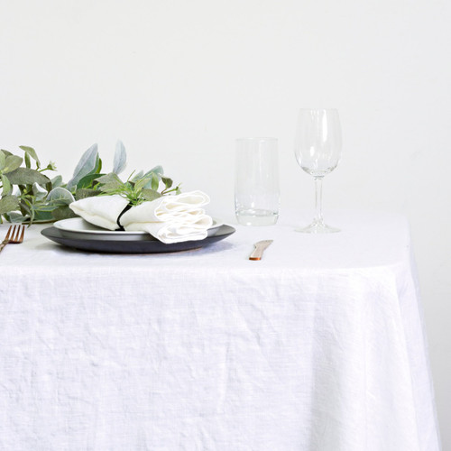 100% Linen Table Cloth by Linens and More