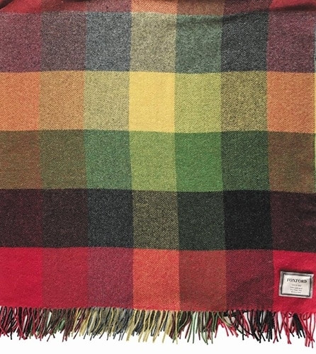 Autumn Check Lambswool Throw by Foxford