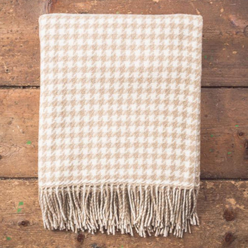 Houndstooth Throw by Foxford