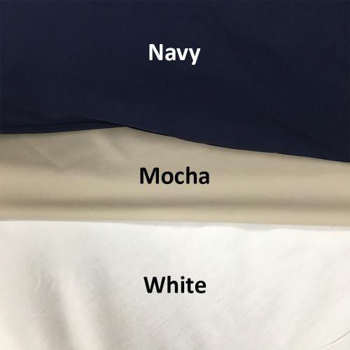 Commercial 250 Thread Count 50/50 Polycotton White Duvet Cover Set