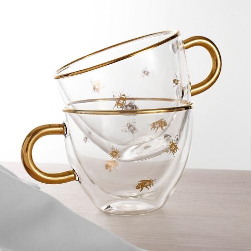 Honey Bee Glass Cup by Ashdene