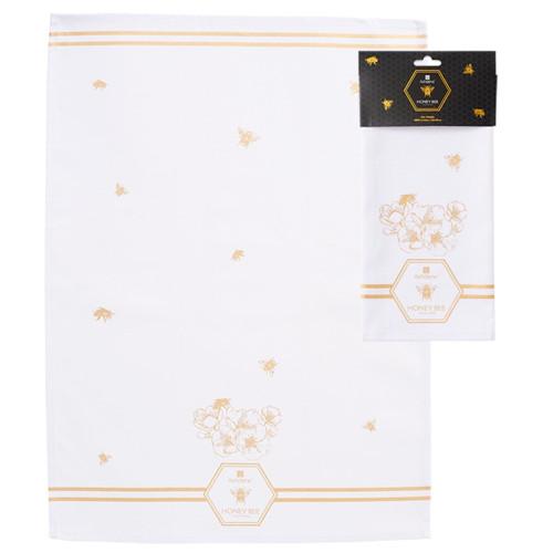 Honey Bee Tea Towel by Ashdene