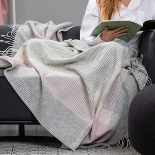 Rose Cashmere Wool Throw by Foxford